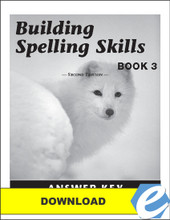Building Spelling Skills: Book 3, 2nd edition - Answer Key - PDF Download