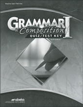 Grammar and Composition I, 6th edition - Teacher Quiz/Test Key