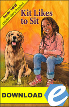 Kit Likes to Sit - PDF Download