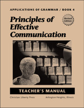 Applications of Grammar Book 4: Principles of Effective Communication - Teacher's Manual