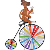 High Wheel Biker Lawn Spinner - Dog