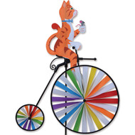 High Wheel Biker Lawn Spinner - Cat