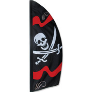 8.5 ft. Feather Banner (Jolly Roger)