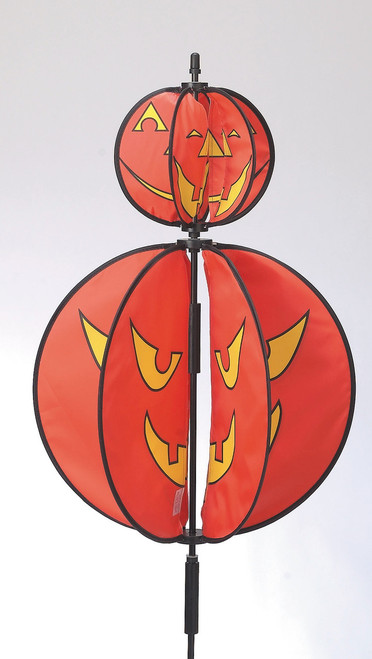 "Halloween wind powered whimsical ""Jack O' Lanterns spinner."