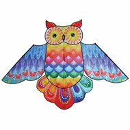 "86"" Rainbow Owl Bird Kite"