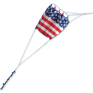 Killip 10 Foil Kite - Patriotic with 36 Ft. Fuzzy Tail