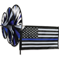 Triple Spinner - Thin Blue Line - Police