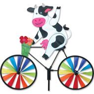 Biker Lawn Spinner - Cow