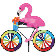 Biker Lawn Spinner - Flamingo