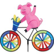 Biker Lawn Spinner - Pig