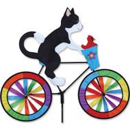 Biker Lawn Spinner - Tuxedo Cat