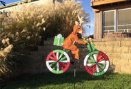 Lawn Spinner - Reindeer on a Bike