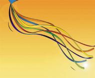 Tails - Ribbon - 6 x 7.5 ft  - Rainbow