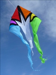 Flo Tail 13' Delta Kite - Rainbow Burst