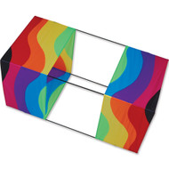 Wavy Rainbow Traditional Box Kite