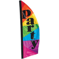 8.5' Party Confetti Feather Banner