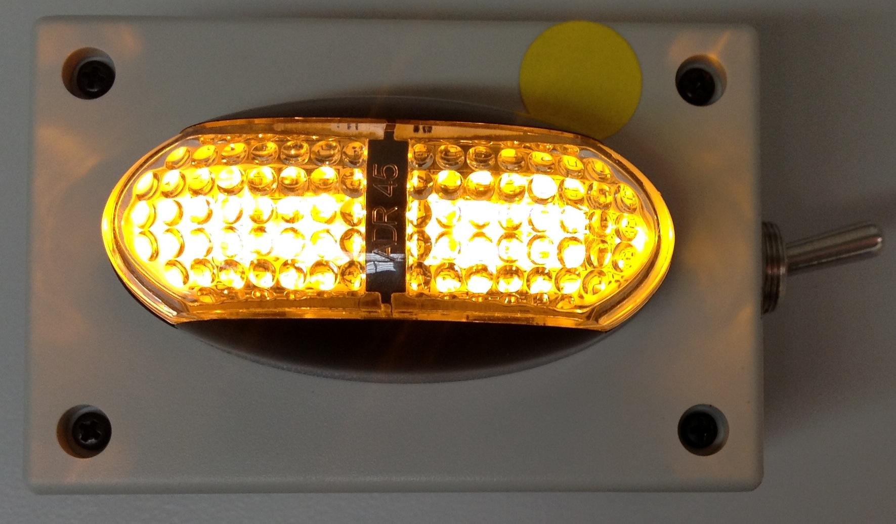 Battery Operated Marker Light Amber Oversize Over