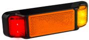 38ARM - Side Marker Light with Reflector Low Profile Multi-volt Single Pack. AL. Ultimate LED.