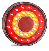 MAXILAMP1XC - Stop Tail Indicator with Round Reflectors Multi-volt Single Pack. AL. Ultimate LED.