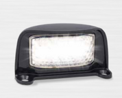 35BLM - Licence Plate Lamp Multi-volt 12-24v Black Housing Low Profile Single Pack. AL. Ultimate LED.