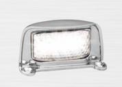35CLM - Licence Plate Lamp Multi-volt 12-24v Chrome Housing Single Pack. AL. Ultimate LED.