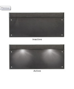 LP1 - Licence Plate Lamp Light with Black Housing Single Pack. LED Auto Lamps. Ultimate LED