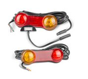 DB2LP/5M - Stop / Tail / Indicator / Reflector - LHS/RHS with Plug in Licence Plate Lamp 12v. Ultimate LED