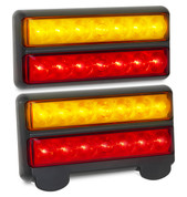 Active 207BARLP2 - Stop, Tail, Indicator & Licence Plate Lamp 12v Twin Pack. Ultimate LED