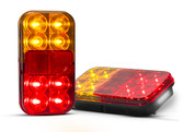 149VBARLP2 Stop, Tail, Indicator, Licence Plate Lamp with Reflector 12v Twin Pack. AL. Ultimate LED.