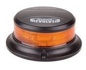 Low Profile, Amber Safety Rotation and Strobe Beacon.  Magnetic Mount. 10-30v DC