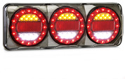 MAXILAMPC3XRW - Stop Tail Indicator Reverse with Reflectors Multi-volt Single Pack. AL. Ultimate LED
