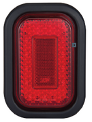 130RMG - Stop Tail with Reflector Rectangle Light Multi-volt with Rubber Grommet Single Pack. AL. Ultimate LED.