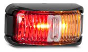 Line Drawing - 42ARM - Side Marker Light Multi-volt Black Bracket Clear Lens Single Pack. AL. Ultimate LED