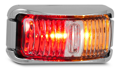 42CARM - Side Marker Light Multi-volt Chrome Bracket Clear Lens Single Pack. AL. Ultimate LED