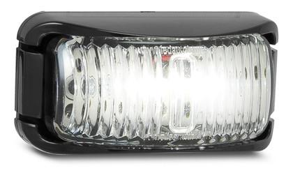 42WM - Front End Outline Marker Light Multi-volt Black Bracket Clear Lens Single Pack. AL. Ultimate LED