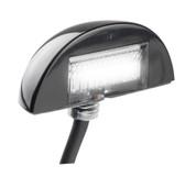 60BLM - Licence Plate Lamps 3m Design Low Profile Black Housing Multi-volt Twin Pack. AL. Ultimate LED.