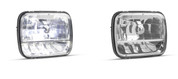 "HL165 - 5 x 7"" Sealed Beam Headlamp High Low Beam with Park Lamp Multi-volt Twin Pack. AL. Ultimate LED."