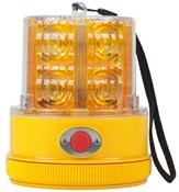 Amber Safety Beacon LED Strobe Light. Battery Operated, Magnetic Mount.