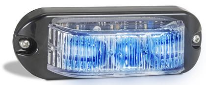 90BM - Emergency Lamp Blue Clear Lens Multi-volt Single Pack. AL. Ultimate LED.