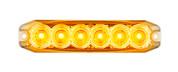 120035AM - Emergency Lamp Strobe Amber Clear Lens Multi-volt Single Pack. AL. Ultimate LED.