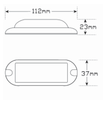 Line Drawing - 91WM - Coloured Marine Lamp Submersible High Powered Lamp Multi-volt Single Pack. AL. Ultimate LED.