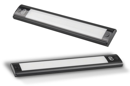 40770 - Interior Strip Lamp with On / Off Touch Button Opaque Lens Black Surround 12v Single Pack. AL. Ultimate LED.