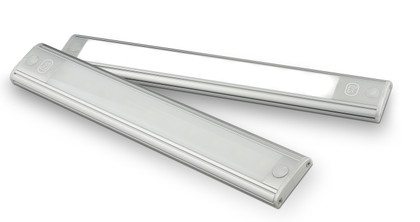 40770S - Interior Strip Lamp with On / Off Touch Button Opaque Lens Black Surround 12v Single Pack. AL. Ultimate LED.