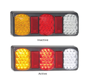 275GARWM - Stop Tail Indicator Reverse with Reflector Multi-volt Single Pack. AL. Ultimate LED.