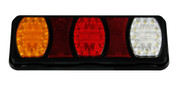 228RV. Twin Pack. BR100ARW Compact LED Tail Light. Stop, Tail Indicator & Reverse Lamp with built-in Reflectors. Quality, Tough Light. Caravan Friendly. Multi-Volt 12 & 24 Volt Systems. B100ARW. Triple Module LED Light.  Truck, Trailer, Ute or Caravan Tail Light Assembly. Built-in Reflector. Great Quality Tail Light. Weather, Vibration and Dust Proof. Ultimate LED