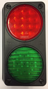 Traffic Control Light, Twin Red, Green with Mounting Housing. Great for Warehouse, Loading Docks, Warehouse Pedestrians, Sealed Doors, Roller Doors, Road Work Traffic Control.