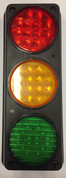 Traffic Control Light, Triple, Red, Amber & Green with Mounting Housing. Great for Warehouse, Loading Docks, Warehouse Pedestrians, Sealed Doors, Roller Doors, Road Work Traffic Control.