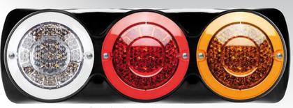 Roadvision BR170ARWB. LED Stop, Tail, Indicator & Reverse Light with Chrome Surface Mount Bracket.