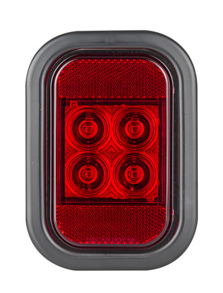 133RMG - Stop Tail Light with Reflector, Rectangle. Multi-volt Single Pack. AL. Ultimate LED.