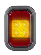 133AMG - Indicator Light with Reflector, Rectangle. Multi-volt Single Pack. AL. Ultimate LED.